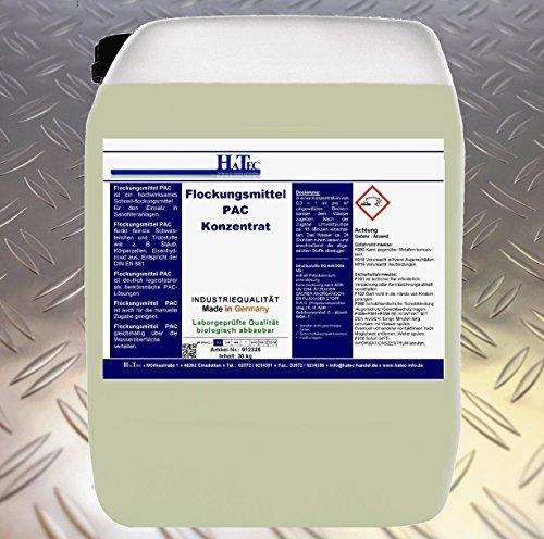 HaTec Flockungsmittel PAC 30 kg/Kanister, Flockungsmittel Wasseraufbereitung Waschstraßen Portalwaschanlage Waschanlage Lkw-Waschstraße Waschhallen Waschplätze