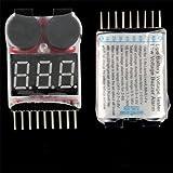 Ecloud Shop 10 pieces 8S Lipo Bateria de Litio Test Tester Voltimetro Alarma Sobrecarga