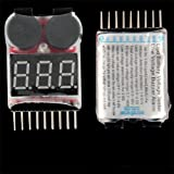 Ecloud Shop 1-8s Spannung Lipo Akku Alarm Checker Anzeiger Tester