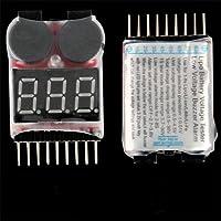 Ecloud Shop 8S Lipo Bateria de Litio Test Tester Voltimetro Alarma Sobrecarga