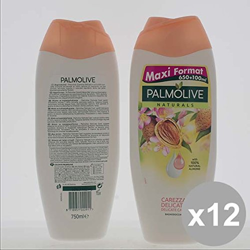 Set 12 PALMOLIVE Bagno 750Ml Latte Mandorla Bagnoschiuma e saponi per il corpo
