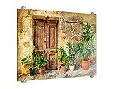Klebefieber Spritzschutz Mediterrane Häuserfront B x H: 80cm x 60cm