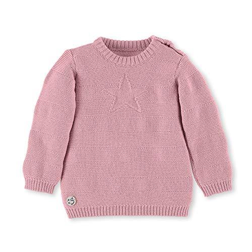 Sterntaler Strick-Pullover mit Stern und Knöpfen, Alter: 9-12 Monate, Größe: 80, Rosa