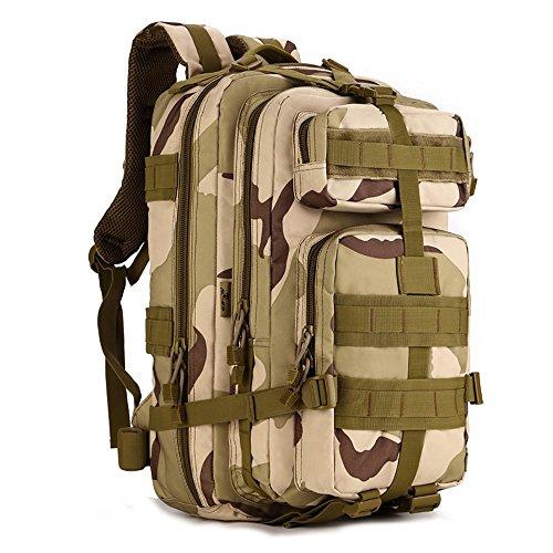 Military Tactical Assualt confezione Army marsupio zaino per escursionismo campeggio trekking caccia 30l spalle zaino, Brown Desert Camouflage