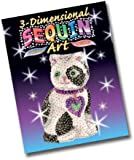 KSG Arts and Crafts 3D Sequin Art 0501 Cat 3D Polystyrene Model Kit