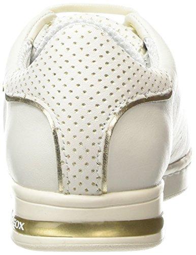 Geox D Jaysen A, Baskets Basses Femme Blanc (C1000)