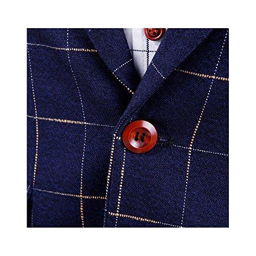 ZEESHANT Homme Costume vestimentaire Slim Fit Blazers Manteau Veste Rouge