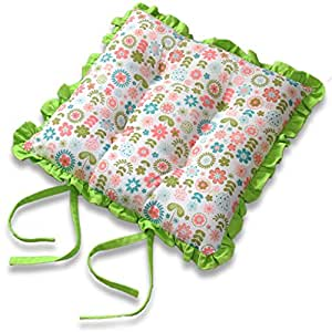 homescapes galette de chaise volante motif fleur r tro coussin de chaise 100 coton amazon. Black Bedroom Furniture Sets. Home Design Ideas