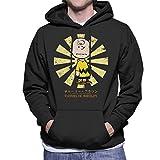Charlie Brown Peanuts Retro Japanese Men's Hooded Sweatshirt