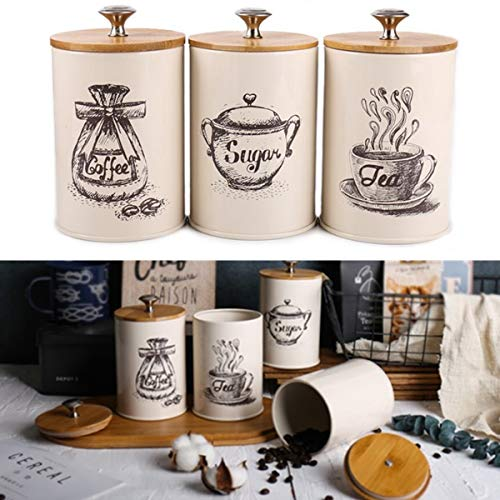 Kungfu Mall Aufbewahrungsdosen für Tee, Kaffee, Zucker, 3 Stück