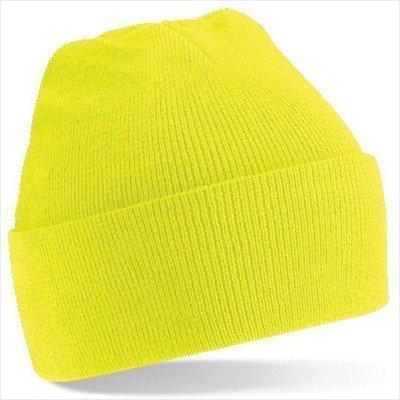 Beechfield - Winter Strickmütze Einheitsgröße,Fluorescent Yellow