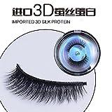 1 Paar 3D Silk Protein Senior Fiber Falsche Wimpern New Fashion Damen Kosmetik Reine Handgemachte Wimpern Weiche Natürliche, Realistische Dreidimensionale , 008