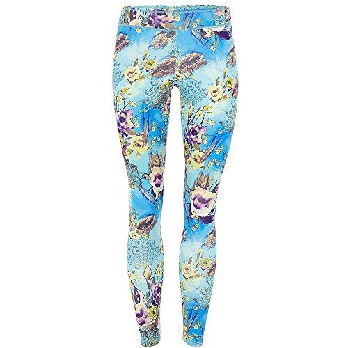 Mandala Damen Sport Hose Printed Leggings Floral Print