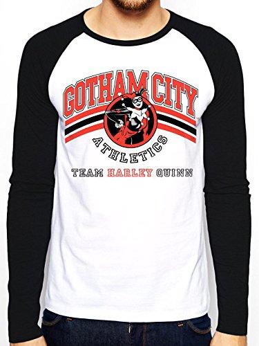 I-D-C CID Batman - Team Harley Quinn Camiseta, Hombre,, L