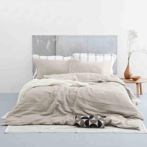 lausonhouse 100% Leinen Bettbezug Set-Queen-Weiß, Sonstige, natur, Full/Queen - Queen Bettbezug Natur