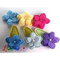 Spange Blume Haarspange - freie Farbwahl
