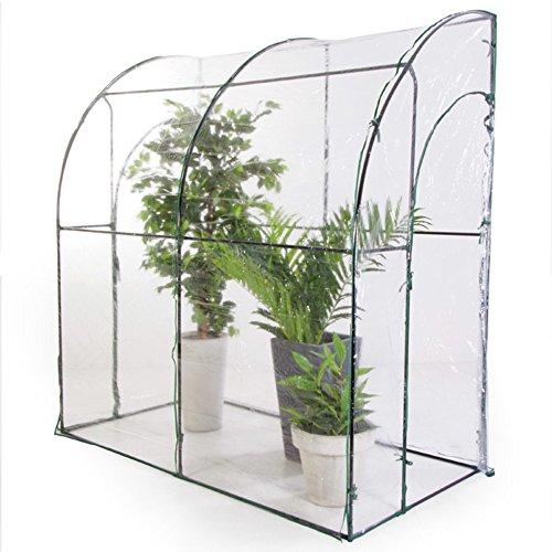 Verdelook serra a parete a due porte con telo trasparente in pvc, 100x200x215 cm