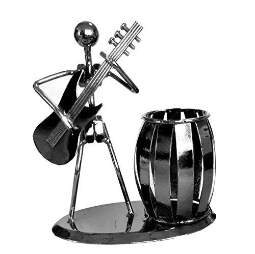 (xdorra- Dekorative Schreibtisch Organizer Stiftehalter im Büro Platz Supply Mehrzweck Geschenk–Metal–Musik Iron Man Stifthalter Bücherregal Student Geschenk Metall Dekoration)