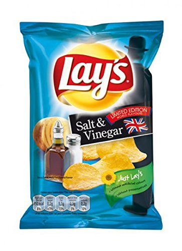 Lays Chips Salt and Vinegar 48 x 27,5g