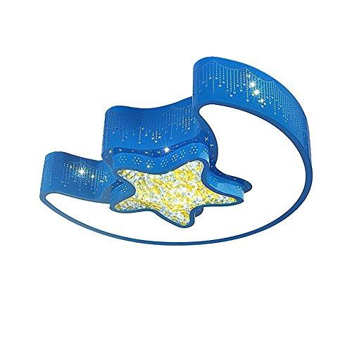 GAOYU Kinder 'S Zimmer Deckenleuchte Led Schlafzimmer Licht Mode Kreative Sterne Mond Junge Mädchen Zimmer Zimmer Deckenleuchte, Blau,weißes Licht