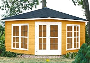 Gartenhaus victoria c40 pavillon 400x400cm 40mm inkl fu boden verglasung garten - Gartenhaus victoria ...