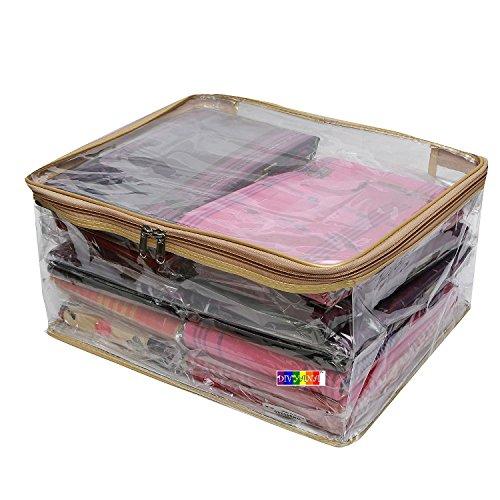 DIVYANA™ Transparent Saree cover Salwar Suit Cover Kurti Cover Bedsheet Cover Dress...