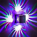 SSJY-LIGHTING LED Wandleuchte Blumen Form Indoor Auf Und Ab Wandleuchten Wandleuchten Für Wohnzimmer Schlafzimmer Bar Flur Korridor Bar Club Neon Licht 4 Wand Strahler 3W 7 Farben,7Colorful