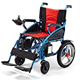 RDJM Electric Wheelchair Foldable Lightweight Electric Power Wheelchairs - with 20A Lithium battery
