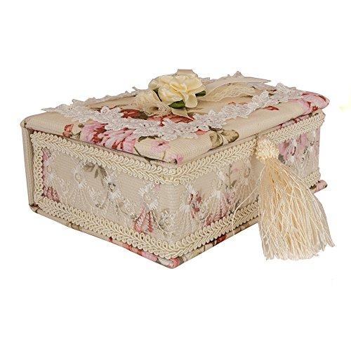 Kleine Schmuckschatulle Schmuckkästchen Schmuckkoffer Schmuckkasten mit Spiegel Box Schmuck Aufbewahrung #1131