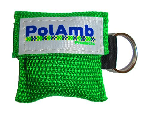 50 x CPR Gesichtsschutz / Leben Schlüssel Schlüsselanhänger Tasche (8 Colour Optionen) - Grün, ONE SIZE (Beutel-ventil-maske)