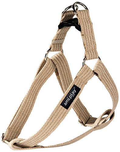 ami-play-cotton-dog-harness-soft-and-durable-with-adjustable-handles-large-beige