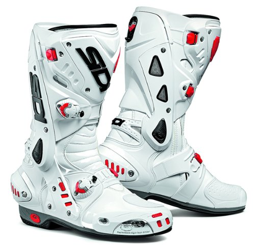 Sidi Vortice Motorcycle Boots Motorbike Sports Breathable Vented Race Biker Boots, White - SPECIAL ORDER