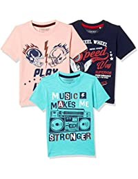 Sunday Sale : Flat 50% And More OFF On Cherokee Boys' Plain Combo T-Shirt (Pack of 3) low price image 14