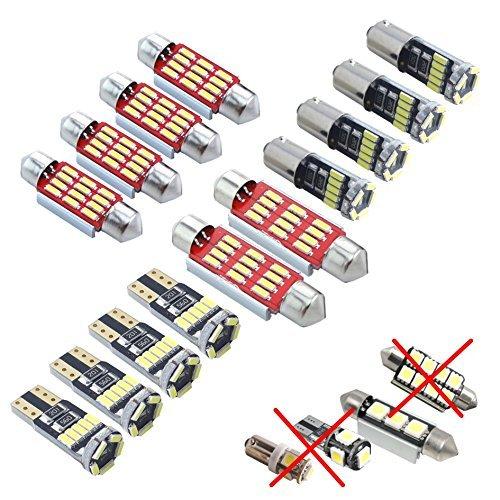 LED SMD 4014 Éclairage d'intérieur Lot de 8 Pièces Blanc Canbus Xenon, aucun Message d'erreur