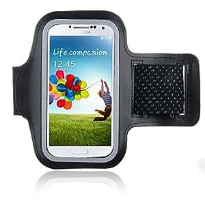 Bestwe Schwarz Neoprene Sports Fitnesszentrum Jogging Armband Tasche Oberarmtasche Schutz Hülle Etui Case für Samsung Galaxy S4 Android Smartphone Handy