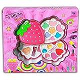 Mädchen Make Up Set Schminkkoffer in Erdbeerform mit 3 Lagen