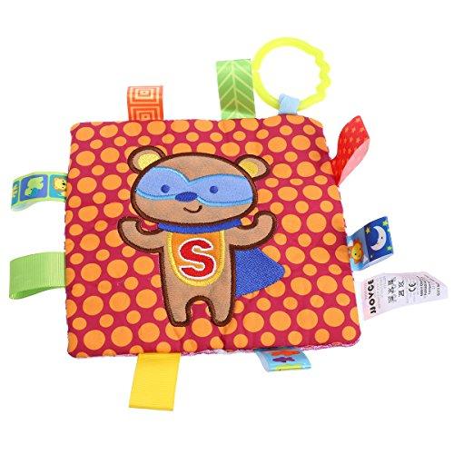 YeahiBaby Copertine di conforto e sicurezza peluche Doudou per neonati bambini con sonaglio (Arancia)