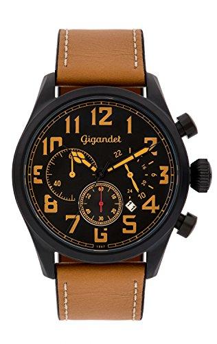 Gigandet G4-005 Montre pour homme avec bracelet en cuir Marron