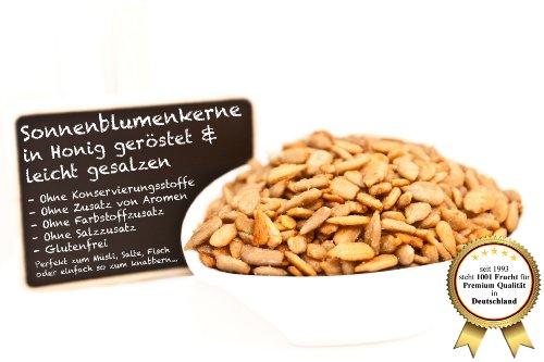 (Sonnenblumenkerne, leicht gesalzen und in Honig geröstet - Premium Qualität - Stärkt Muskeln, Nerven und Knochen - 250 GR)