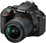 Nikon D5600 Digital SLR Camera and 18-55 mm VR DX AF-P Lens - Black
