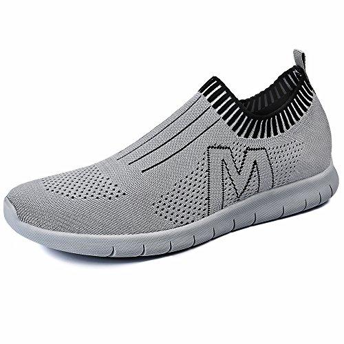 Creeker Chaussures de Sport Chaussons Running Course Chaussures de Basket Respirante En Mesh En Plein Air Outdoor Plage Hiking Camping Gris