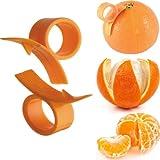 ETHAHE 2 Stück Hochqualitativer Orangenschäler Schneider Finger Ring Scharf Schneckenform Leicht Anstrengungslos Rostfrei Dorn