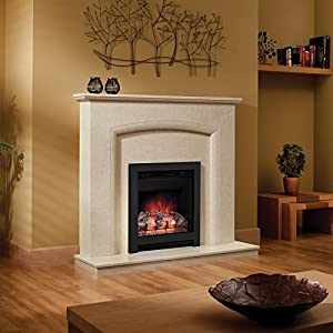 Be Modern Athena 16 inch Log Electric Fire Black