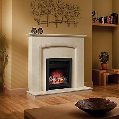Be Modern Athena 16 inch Log Electric Fire Black