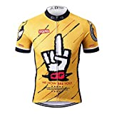 Thriller Rider Sports® Herren Funny Yellow Sport & Freizeit MTB Fahrradbekleidung Radtrikot 5X-Large