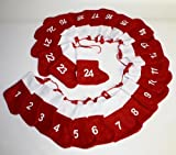 HAAC Adventskalender Advent Girlande mit 24 Socken Filz für Weihnacht Weihnachten