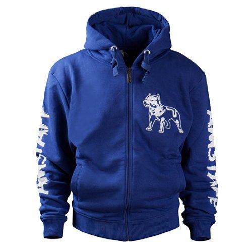 Amstaff Herren Zip Hoodies Logo blau L