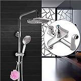 LGSYSYP Badezimmer Zubehör/Europäische Badezimmer Moderne Runde Handbrause Dusche heiß und Kalt Dual-Use-Kupfer-Multi-Funktions-Drei-Geschwindigkeit an der Wand befestigten Aufzug Dusche Wasserhahn
