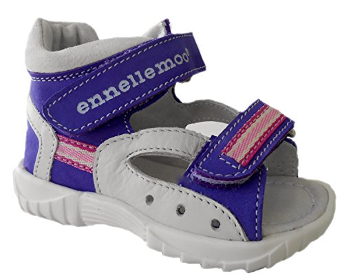 ennellemoo®  Made in EU , Sandales pour fille - Lila/Grau/Pink