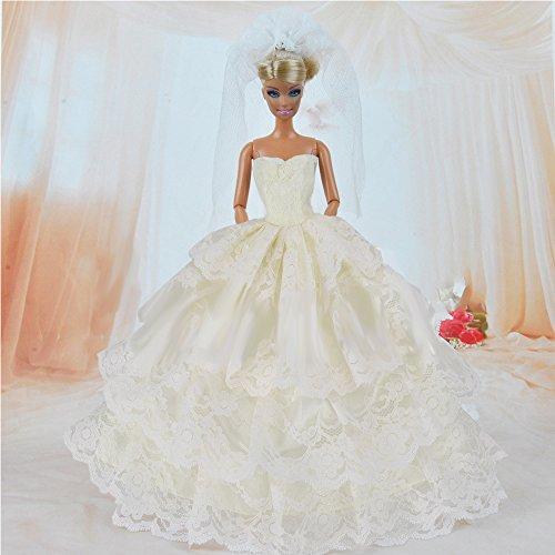 Yacool® 1 PCS haute qualité Mode de mariage Party robe Bling Robes et Vêtements pour Barbie Doll